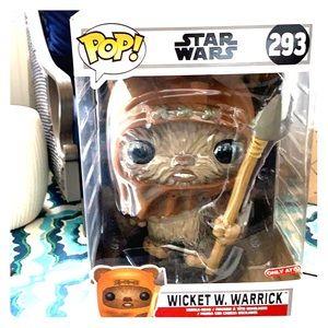"""10"""" Wicket Warrior, bobble head,  Star Wars Pop"""